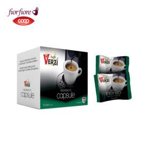 Confezione da 100 o 200 capsule fior fiore coop aroma intenso Caffe verzì