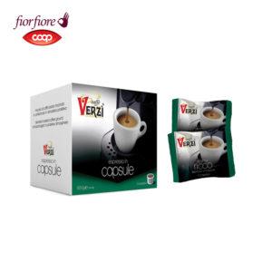 Confezione da 100 o 200 capsule fior fiore coop aroma ricco Caffe verzì