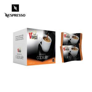 Confezione da 100 e 200 capsule nespresso aroma intenso Caffe verzì