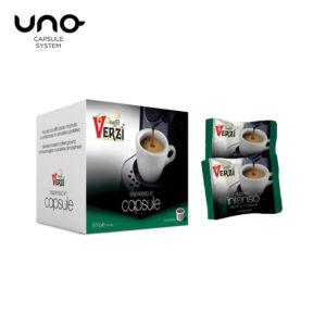 Confezione da 100 o 200 capsule unosystem aroma intenso Caffe verzì