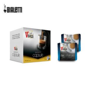Confezione da 100 capsule compatibili bialetti decaffeinato caffè verzì