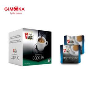 Confezione da 100 capsule domo gimoka kelly decaffeinato Caffe verzì