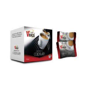 Confezione da 100 capsule espresso point - aroma intenso Caffè Verzì.
