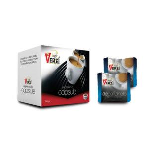Confezione da 100 capsule espresso point - decaffeinato Caffè Verzì.