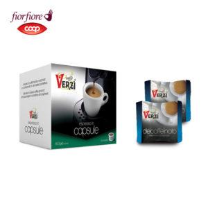 Confezione da 100 capsule fior fiore coop decaffeinato Caffe verzì