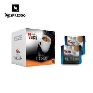 Confezione da 100 capsule nespresso decaffeinato Caffe verzì