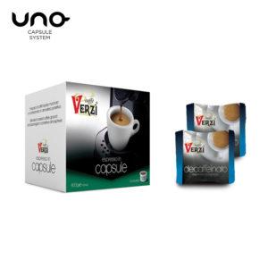 Confezione da 100 capsule unosystem decaffeinato Caffe verzì