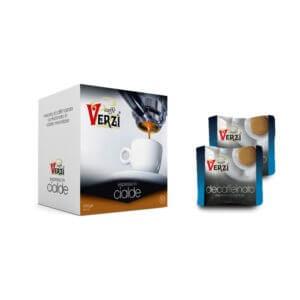 Confezione da 100 o 200 cialde carta filtro decaffeinato Caffe verzì