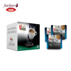 Confezione da 200 capsule fior fiore coop decaffeinato Caffe verzì