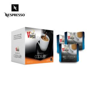 Confezione da 200 capsule nespresso decaffeinato Caffe verzì
