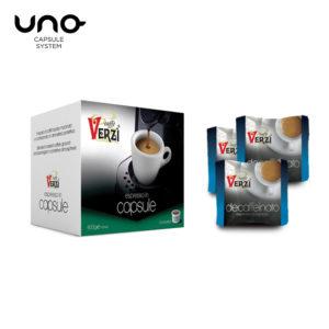 Confezione da 200 capsule unosystem decaffeinato Caffe verzì