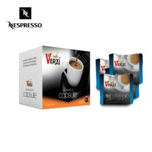 Confezione da 300 e 400 capsule nespresso decaffeinato Caffe verzì
