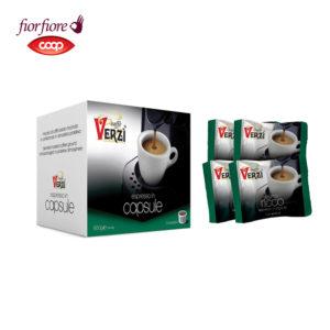 Confezione da 300 capsule fior fiore coop aroma ricco Caffe verzì