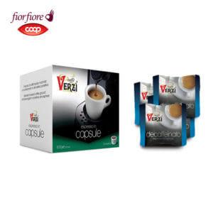 Confezione da 300 capsule fior fiore coop decaffeinato Caffe verzì