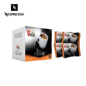 Confezione da 300 capsule nespresso aroma intenso Caffe verzì