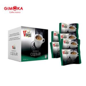 Confezione da 400 capsule domo gimoka kelly aroma ricco Caffe verzì