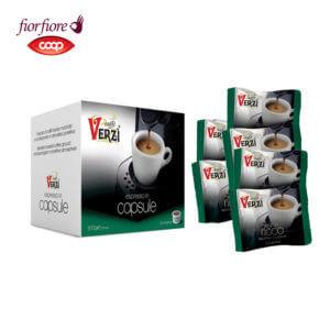 Confezione da 400 capsule fior fiore coop aroma ricco Caffe verzì