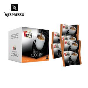 Confezione da 400 capsule nespresso aroma intenso Caffe verzì