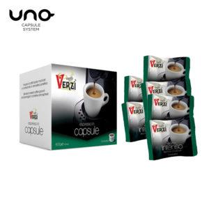 Confezione da 400 capsule unosystem aroma intenso Caffe verzì
