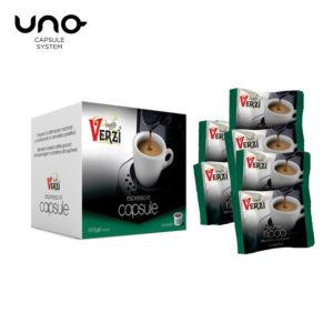 Confezione da 400 capsule unosystem aroma ricco Caffe verzì