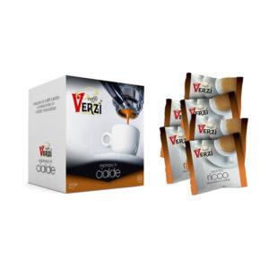 Confezione da 450 e 600 cialde carta filtro - aroma intenso Caffè Verzì.