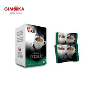 Confezione da 50 capsule domo gimoka kelly aroma intenso Caffe verzì