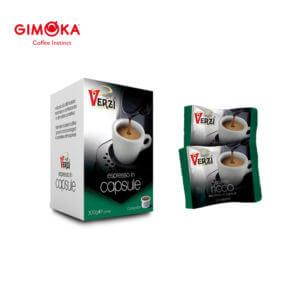 Confezione da 50 capsule domo gimoka kelly aroma ricco Caffe verzì