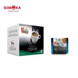 Confezione da 50 capsule domo gimoka kelly decaffeinato Caffe verzì