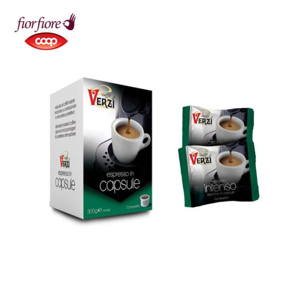 Confezione da 50 capsule fior fiore coop aroma intenso Caffe verzì