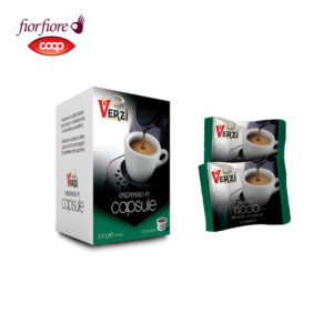 Confezione da 50 capsule fior fiore coop aroma ricco Caffe verzì