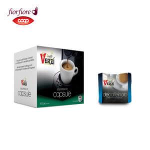 Confezione da 50 capsule fior fiore coop decaffeinato Caffe verzì