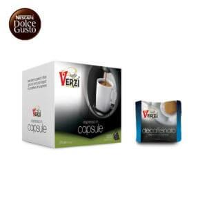 Confezione da 50 capsule nescafè dolce gusto decaffeinato Caffe verzì