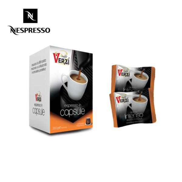 Confezione da 50 capsule nespresso aroma intenso Caffe verzì