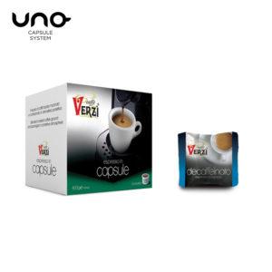 Confezione da 50 capsule unosystem decaffeinato Caffe verzì