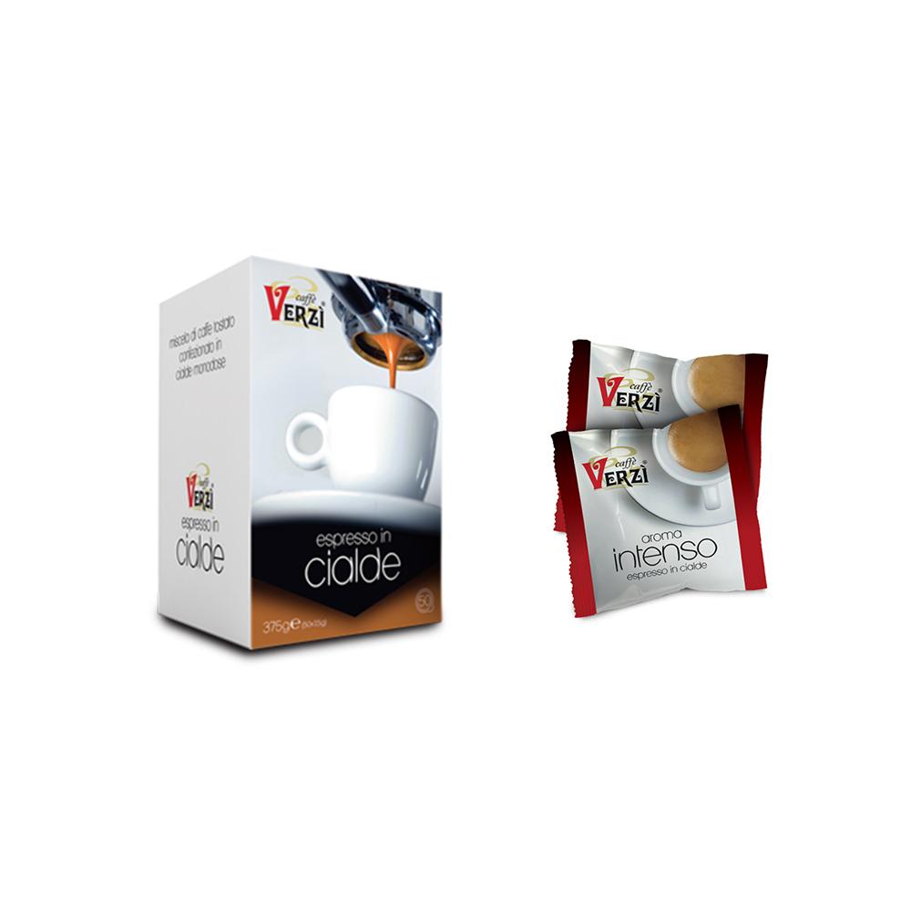 intenso caffe cialde  50 Cialde carta filtro caffè aroma intenso