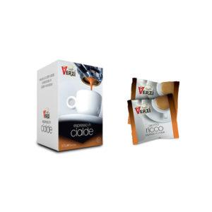Confezione da 50 cialde carta filtro - aroma ricco Caffè Verzì.
