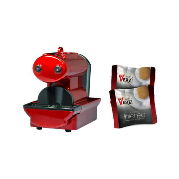 Macchina nano meccanica a capsule rigide - rossa