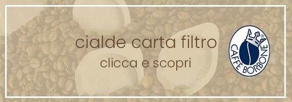 Cialde carta filtro caffè borbone
